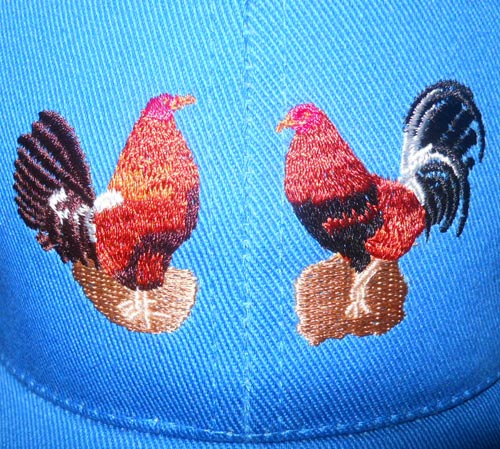 cap embroidery